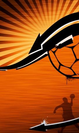 Handball fond avec l'espace (affiche, web, brochure, magazine) Banque d'images