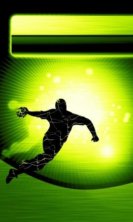 handball: Handball shot background with space (poster, web, leaflet, magazine)