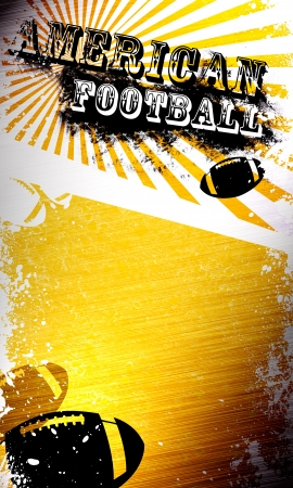 bowl game: Grunge american football background with space (poster, web, leaflet, magazine) Stock Photo