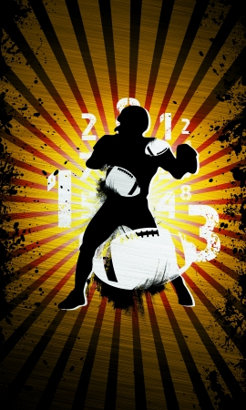 rugger: Grunge american football background with space (poster, web, leaflet, magazine) Stock Photo
