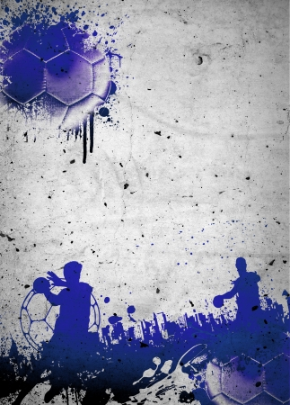 pallamano: Abstract grunge pallamano manifesto o volantino sfondo con lo spazio Archivio Fotografico