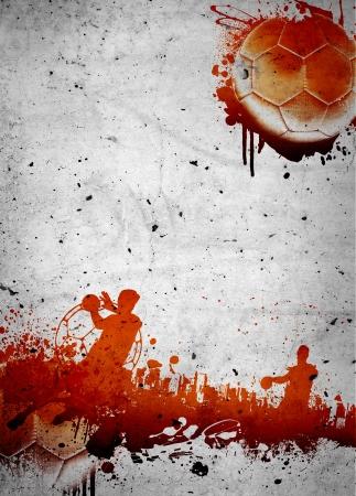 Abstract grunge Handball-Poster oder Flyer Hintergrund mit Platz