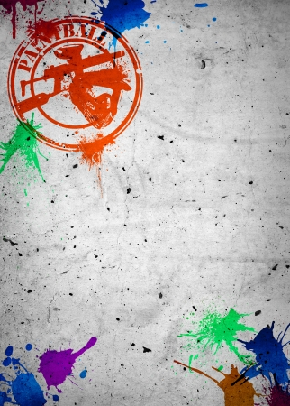Abstract grunge paintball poster or flyer background with space Stock Photo
