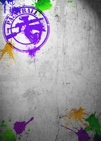 Abstract grunge paintball poster or flyer background with space Banco de Imagens