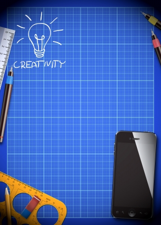 Abstract creativity idea poster or flyer background with space photo
