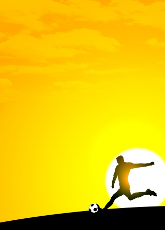Summer soccer or football tournament invitation background photo