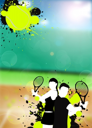Astratto colore sport tennis poster sfondo con lo spazio Archivio Fotografico