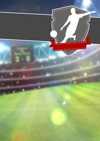 Soccer sport poster or flyer background with space Standard-Bild
