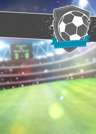 Soccer sport poster or flyer background with space photo