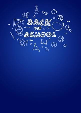 soumis: Retour à l'affiche des ventes de l'école ou des prospectus d'information avec l'espace