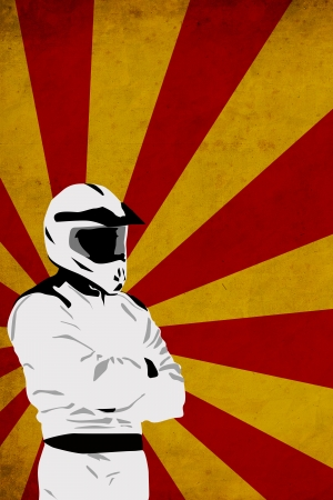 race car driver: Motocross or quad poster background with space Stock Photo