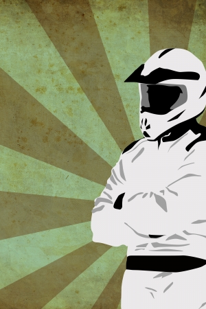 Motocross or quad poster background with space photo