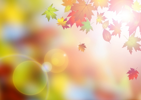 Abstract autumn poster or flyer background with space