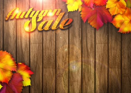 Nature autumn sale design background with space photo