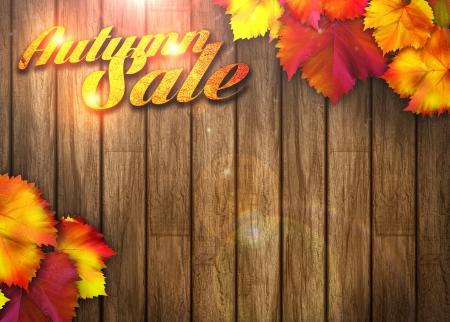 Natuur herfst verkoop design achtergrond met ruimte