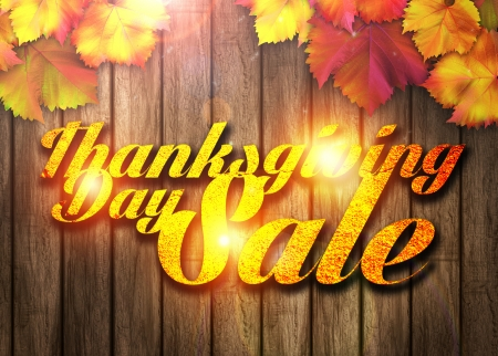 beautiful thanksgiving: Nature autumn sale design background with space