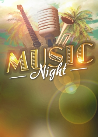 Jass music concert or party poster background with space photo