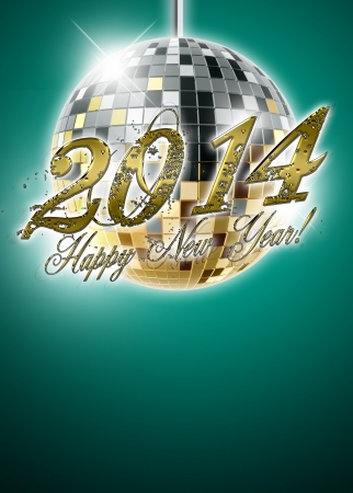 2014 happy new year party background with space