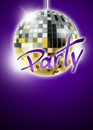 square dancing: Abstract disco mirrorball poster background with space