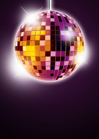 mirrorball: Abstract disco mirrorball poster background with space