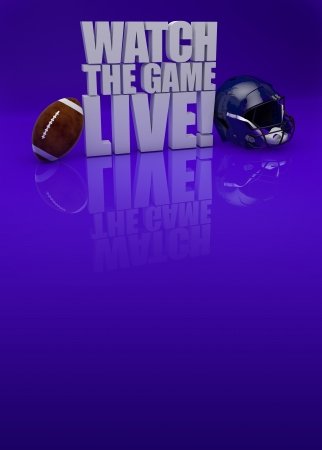Watch the game live! - American football background with space photo