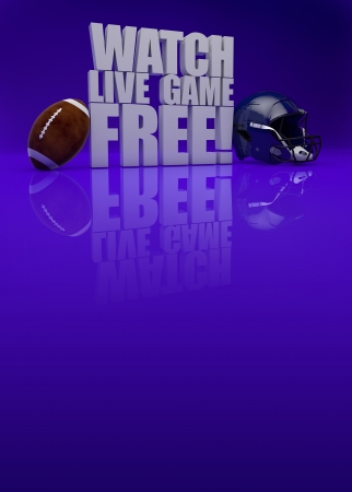 american football background: Watch live game free! - American football background with space Stock Photo