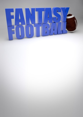 fantasy american football game background with space photo