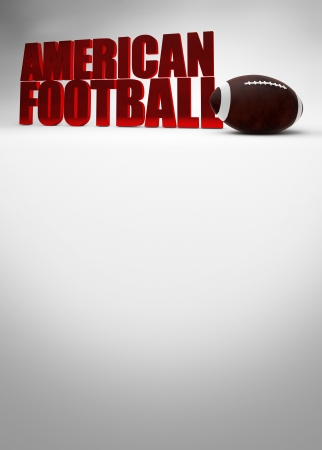 American football 3D text background with space photo