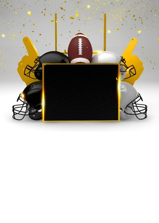bowl game: Abstract American Football invitation background with space