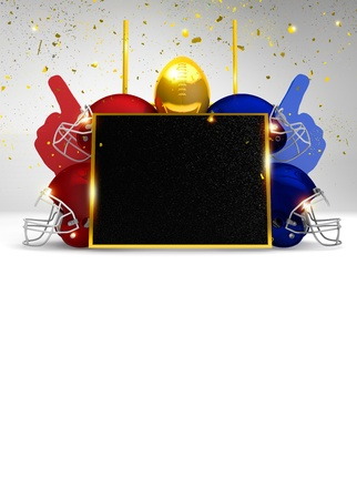 super bowl: Abstract American Football invitation background with space