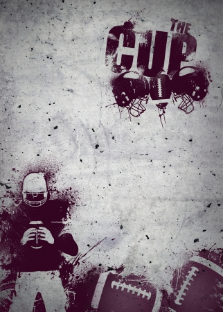 voetbal banner: Abstract grunge american football invitation poster or flyer background with space