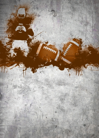 rugby football: Abstract grunge american football invitation poster or flyer background with space