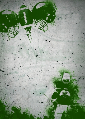 bannière football: Abstract grunge américain affiche d'invitation football ou fond d'insecte avec l'espace