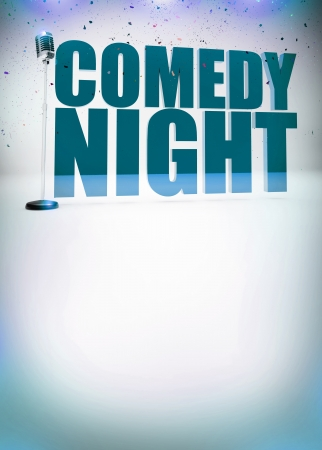 Stand up show abstract invitation poster background with space Stock Photo