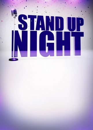 comedy show: Stand up show abstract invitation poster background with space Stock Photo