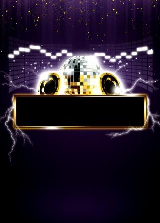 flyer musique: R�sum� discoth�que ou partie fond d'affiche de l'espace Banque d'images