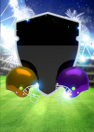 super bowl: Abstract american foortball invitation flyer or poster background with space Stock Photo