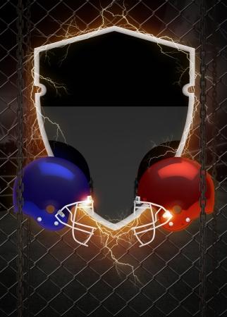 campeonato de futbol: Resumen americano foortball flyer invitaci�n o el fondo del cartel con el espacio