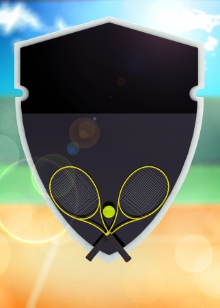 Abstract tennis invitation flyer or poster background with space photo
