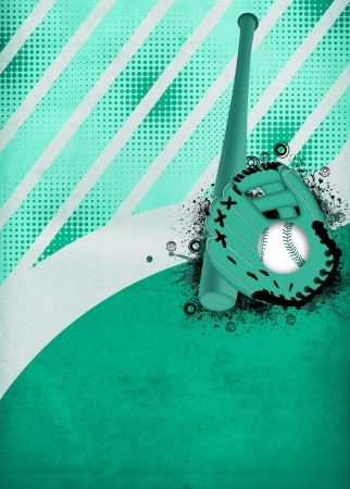 baseball pitcher: abstract baseball sport poster or flyer background with space