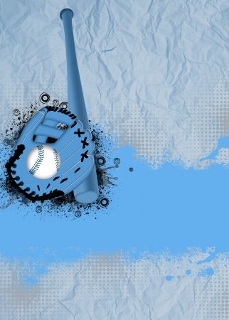 abstract baseball sport poster or flyer background with space photo