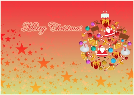 Merry Christmas decoration poster or flyer background with space photo