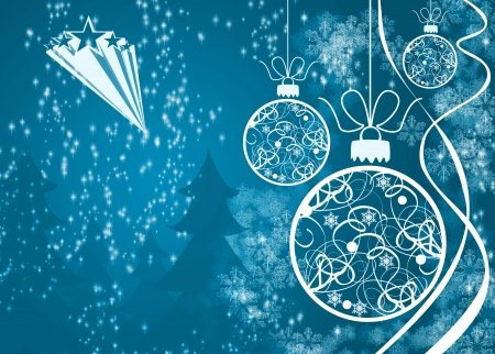 happy christmas: Merry Christmas decoration poster or flyer background with space