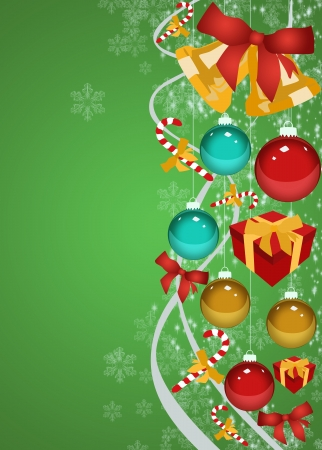Merry Christmas decoration poster or flyer background with space