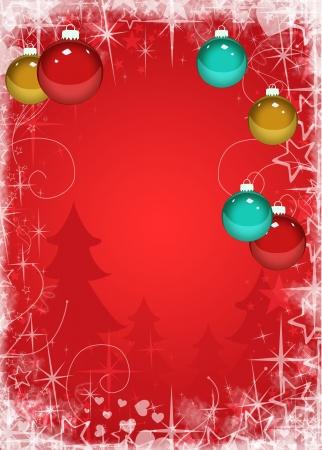 weihnachtsschleife: Frohe Weihnachtsdekoration Poster oder Flyer Hintergrund mit Raum