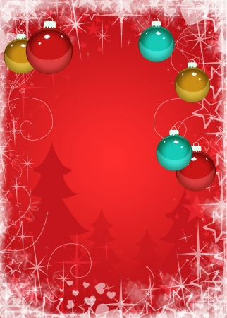 christmas night: Merry Christmas decoration poster or flyer background with space