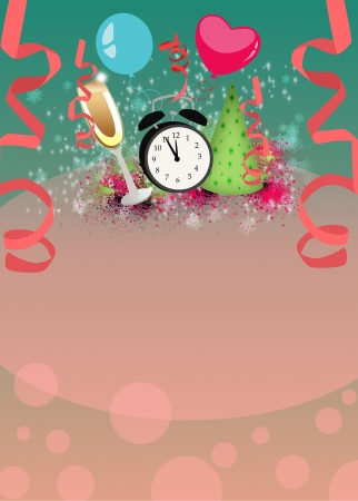 Happy new year poster or flyer background with space Stock Photo - 23784830