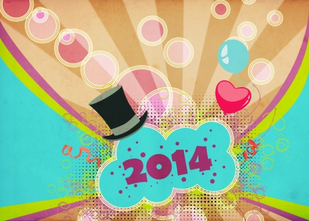 Happy new year poster or flyer background with space photo