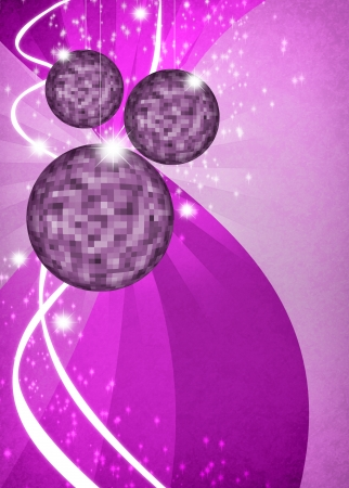 disco mirrorball: Abstract disco mirrorball poster background with space