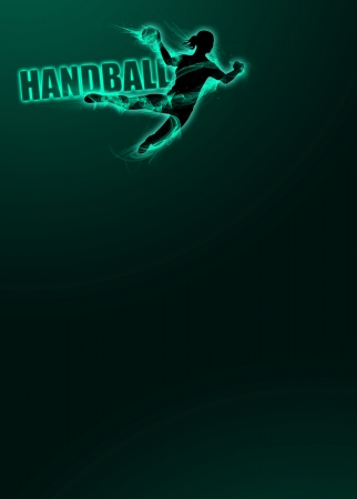 Woman handball sport invitation poster or flyer background photo
